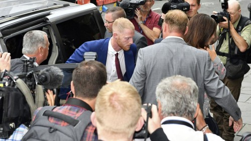 England cricketer Stokes goes on trial for street fight