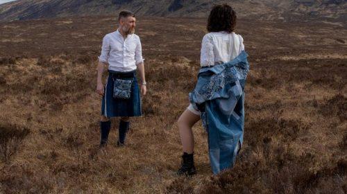 'We're here to make waste sexy': Elizaveta & Bennett turn discarded denim into original clothes.