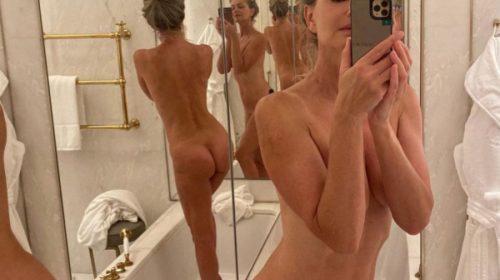At 56, Super Model Paulina Porizkova shows off her nude body in a selfie